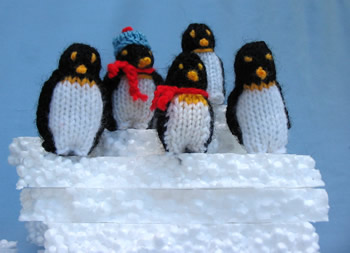 Flutterby Patch: Knitted penguins and an icy escape (blog 6)